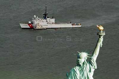 Coast Guard Cutter Spencer takes on supplies in New York Harbor, Nov. 3, 2012. The Spencer is homeported in Boston with a com...