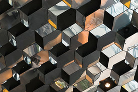 Harpa, a cocert hall and conference center in Reykjavik, Iceland.