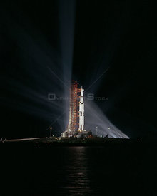 APOLLO 8 (SATURN V) ON LAUNCH COMPLEX 39A AT KSC PRIOR TO LAUNCH. 12/20/68.