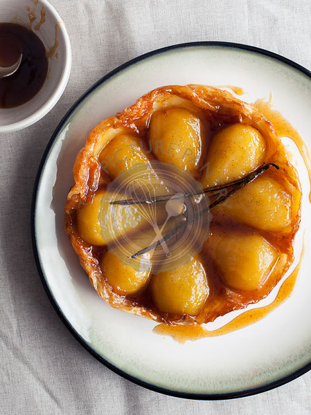 Pear Tart Tatin with Vanilla Pod