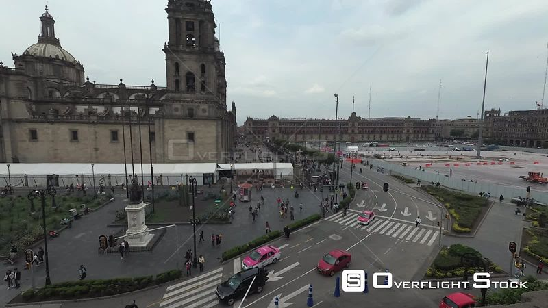TimeLapse of Cathedral and City Road in Mexico City