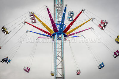 The swing tower ride at Banbury Fair