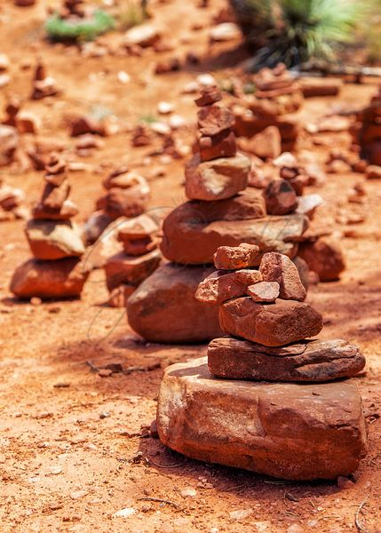 Red Rock Piles Marking Vortex in Sedona