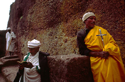 Ethiopia - Lalibela - Monks chant prayers at dawn