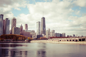 Chicago Skyline Vintage Picture