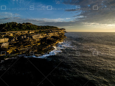 Mackenzie's Point Cliffs at Dawn Sydney Australia
