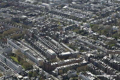 aerial photograph  South Kensington London England UK