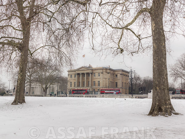 Apsley House during winter, London, UK