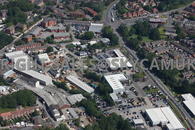Stockport aerial photograph of an industrial area bounded by Waterloo road and Joules Court and Spring Gardens and St Marys W...