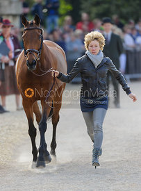 Susanna Bordone and BLUE MOSS - Mitsubishi Motors Badminton Horse Trials 2013