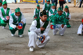 Morenos dance group honouring saints at St Peter and St Paul festival, Arica, Chile