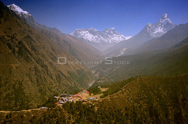 NEPAL Tengboche -- 16 Apr 2005 -- Aerial photograph of the famous Tengboche Monastery in the Solu Khumbu region.