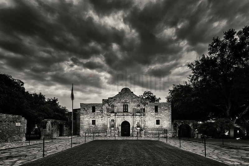The Alamo Mission at Dawn