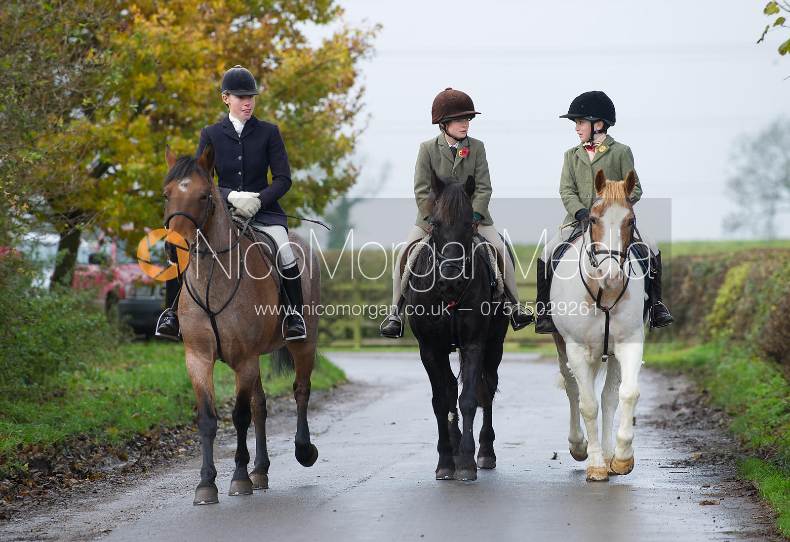 Ned Forryan and Marcus Speed - The Cottesmore Hunt at Tilton on the Hill 10/11/12