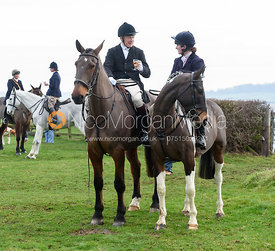 Gina Andrews At the meet. The Belvoir Hunt at Highfield Farm 12/12