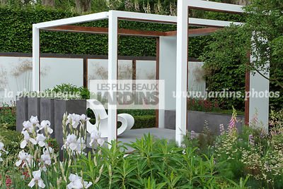 Chair, Contemporary garden, Digital, Garden furniture, Pergola, Resting area