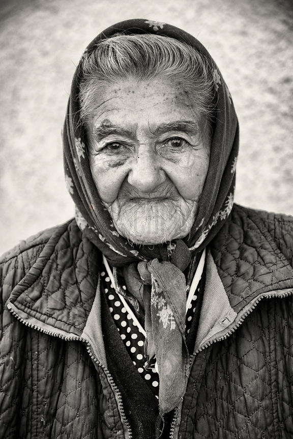Portrait of an Elderly Romanian Woman