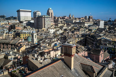A View Over The Rooftops of Genoa