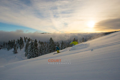 Squaw Valley Sunrise Groomer.