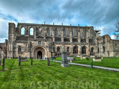 Historic Malmesbury Abbey in the Cotswolds, Wiltshire, UK