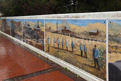 Murals Depicting the Mining History of Lithgow in New South Wales