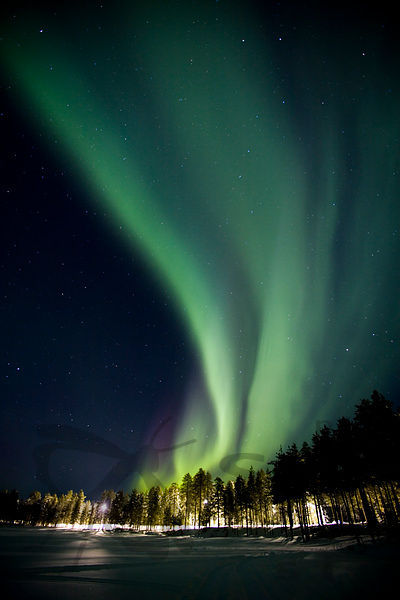 Northern Lights in Hossa