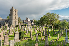 The Church of the Holy Rude the Old Town Cemetery lose to Stirling Castle in Scotland.