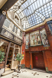 Hotel Chopin, Passage Jouffroy, Ladenpassage, Paris