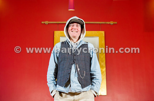 25th January, 2015. Comedian, actor and TV presenter David Andrews aka Dave McSavage photographed in the Clarence Hotel.Photo...