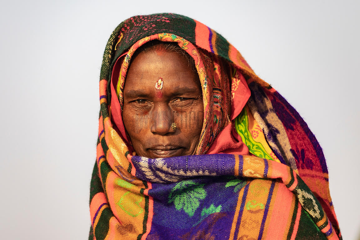 Portrait of a Woman from Bihar.