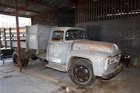 Historic Ford F Series truck belonging to Enafer in National Railway Museum of Peru , Tacna