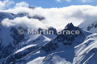 Mountainscape with cloud, Hornsund, Spitsbergen, Svalbard, Arctic Norway