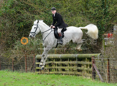 Oliver Beazley jumping a hunt jump from Town Park Farm