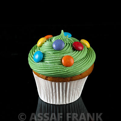 Cupcake with smarties