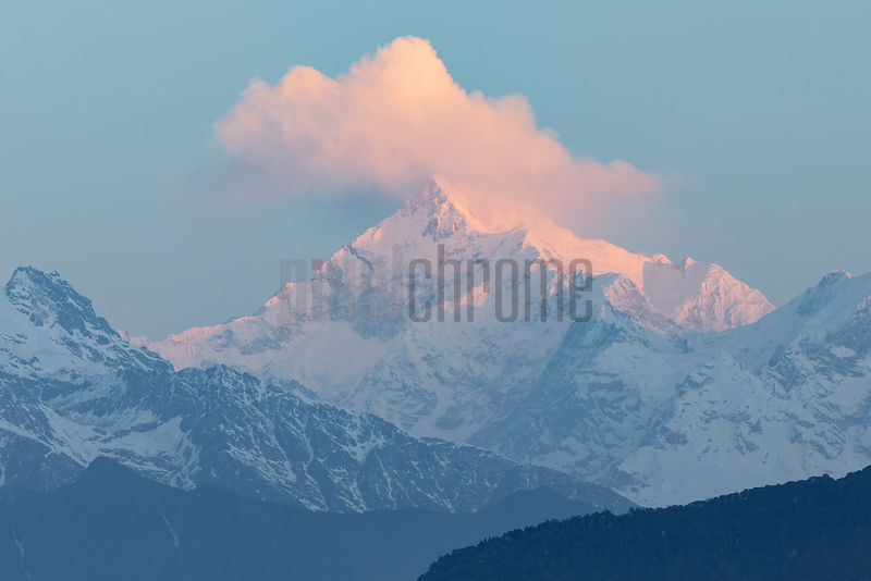 Mt Kanchenjunga at Sunrise