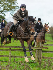 Jumping a hunt jump - The Cottesmore Hunt at Tilton on the Hill, 9-11-13