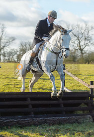 Jimmy Couldrey jumping a fence at Cream Gorse - The Quorn at Cream Gorse Farm