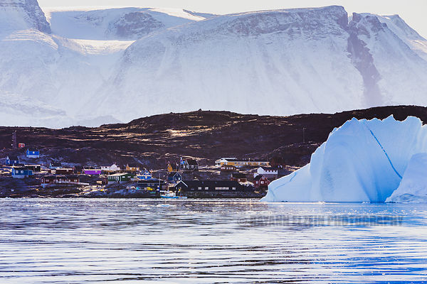 The tiny village of Ikerasak in the Uummannaq fjord in Greenland