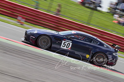 Track Group's Aston Martin Vantage GT4 in action at the Silverstone 500 - the third round of the British GT Championship 2014...