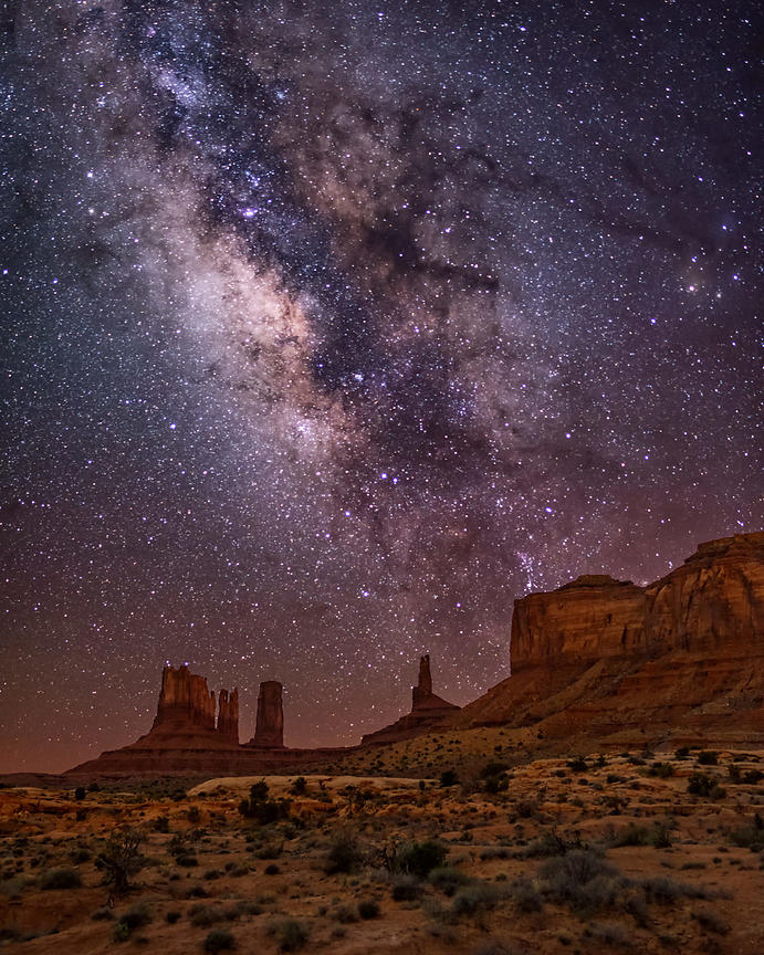 Milky Way Nigh at Monument Valley