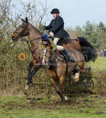 The Cottesmore Hunt at Lockwood, Knossington 14/2