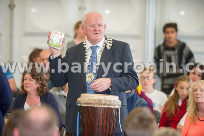 23rd August, 2014.An estimated  200 drummers took part in drum lessons on the Hill of Tara to celebrate the launch of Nationa...