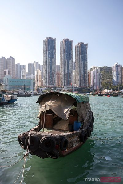 Sampan in Aberbeen harbor, Hong Kong