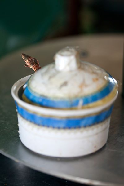 Ethiopia - Addis Ababa - A sugar bowl in the Ras Makonnen coffee house