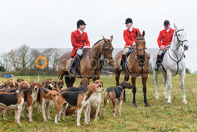 Joe Tesseyman, Gary Thorpe At the meet. The Holderness Hunt visit The Essex and Suffolk
