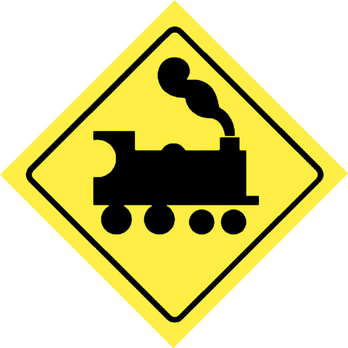 Steve Fuller Photos | Road sign to warn of railway crossing at
