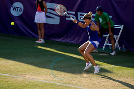Sabine Lisicki (GER) wining against United States  Shelby Rogers (USA) the second round at the Mallorca Open 2017 in Santa P...