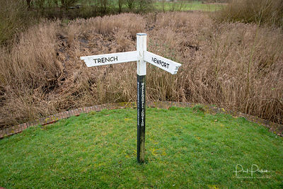 Direction post at Wappenshall Wharf in Telford.