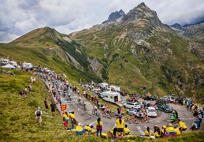 The Peloton in Mountains - Tour de France 2015