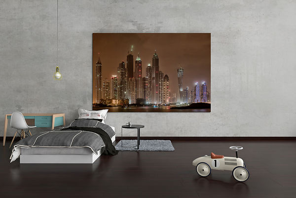 Fine-art-photography-decorarion-murale-artistic-print-Dubai-skyline-by-night